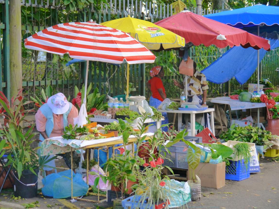 On peut bien sûr acheter ses fleurs au marché Max Ransay