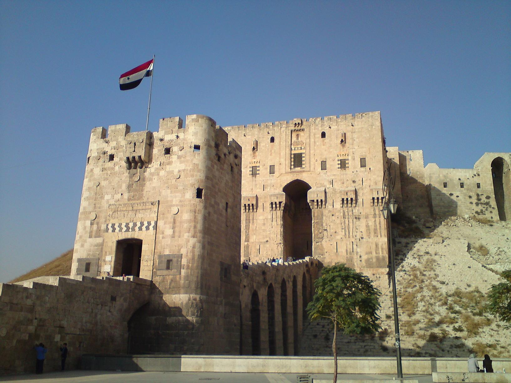 La citadelle d'Alep, en novembre 2010