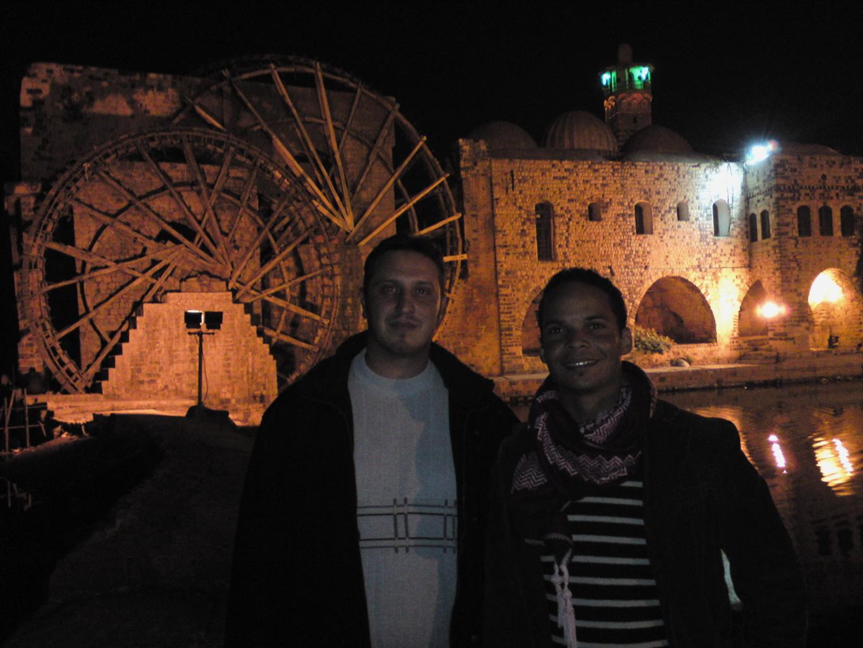 Avec Moayad à Hama