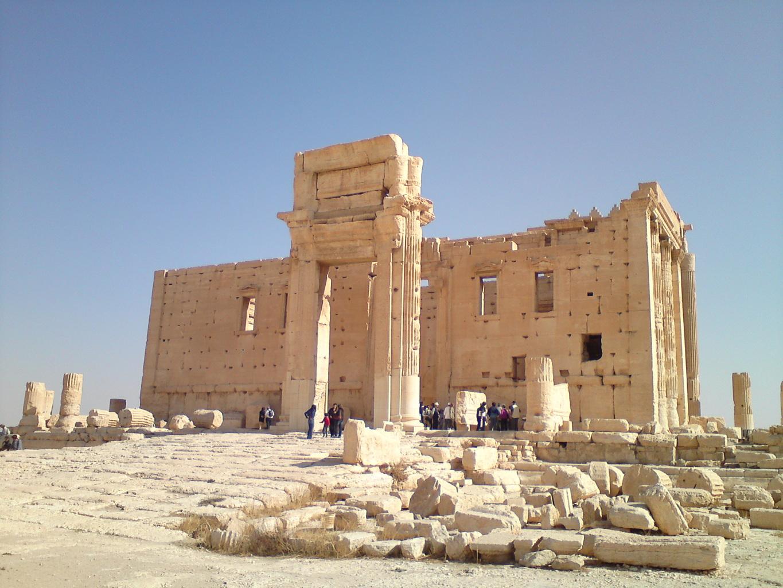 Les ruines du temple de Baal à Palmyre. Photo: Berliniquais