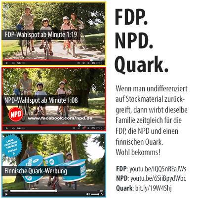La FDP, la NPD et le yaourt finlandais, pris sur le fait, via Die Wegmeister
