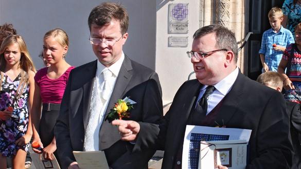 Christoph et Rüdiger Zimmerman se sont mariés le 11 août 2013 en la paroisse de Seligenstadt. Photo evangelisch.de