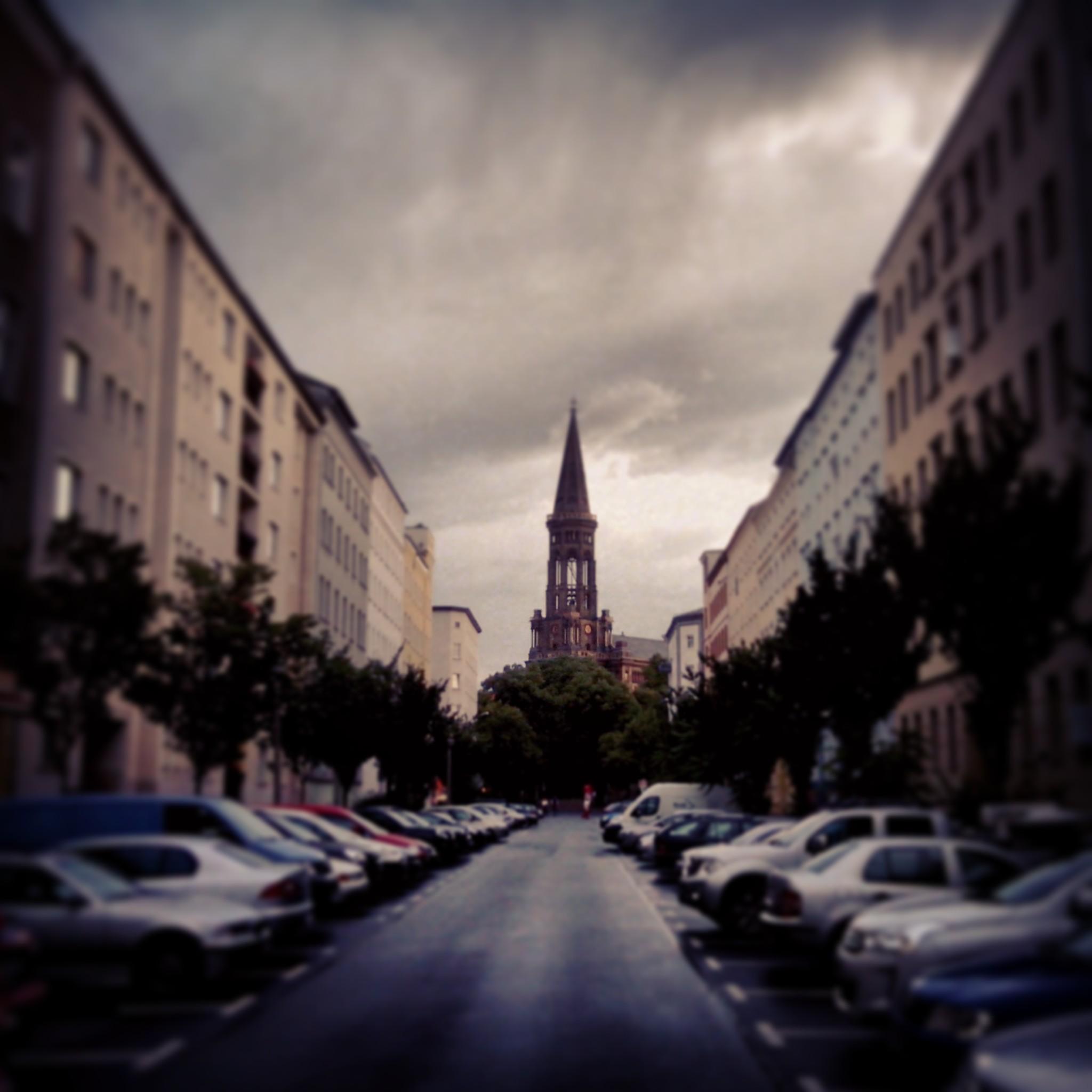 Vue sur la Zionskirche, dans le quartier de Berlin-Mitte.