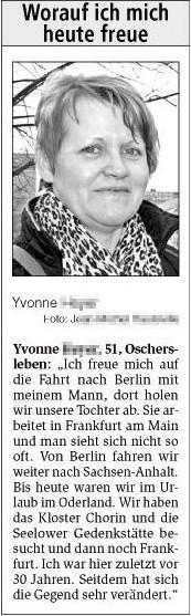 Yvonne se réjouit de ses retrouvailles avec sa fille à Berlin.