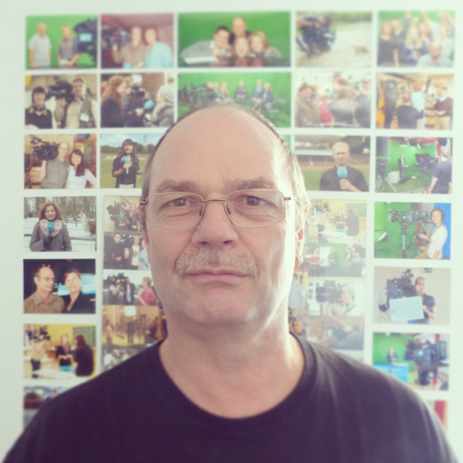 Roland Egersdörfer dans son bureau le 30 avril 2014.