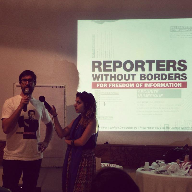 Grégoire de Reporters sans Frontière anime un atelier - Mondoblog Abidjan 2014 - Photo: Berliniquais