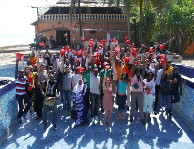 Les Mondoblogueurs à Grand-Bassam près d'Abidjan en mai 2014. Photo: Arthur Floret