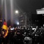 "Manif Pegida à Berlin: ""Bärgida"" devant Rotes Rathaus le 5 janvier 2015 © Berliniquais"