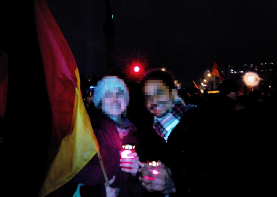 À la manifestation Pegida à Berlin le 5 janvier © Berliniquais