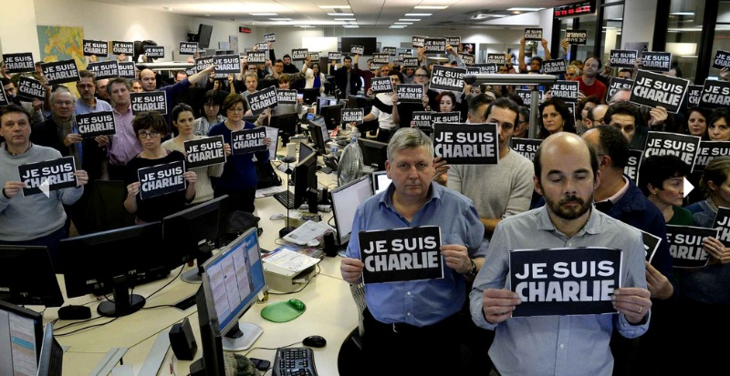# JeSuisCharlie - Photo Rédaction AFP Paris - Charlie Hebdo