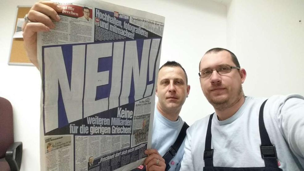 Bild NEIN Gierige Griechen - Selfie lecteurs Rink et Knoll